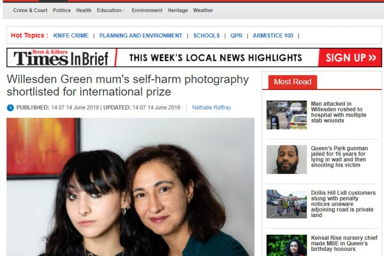 Brent & Kilburn Times coverage of Wellcome Photography prize shortlisting